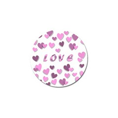 Love Valentine S Day 3d Fabric Golf Ball Marker (10 pack)