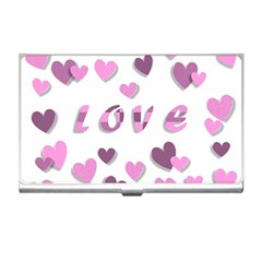 Love Valentine S Day 3d Fabric Business Card Holders