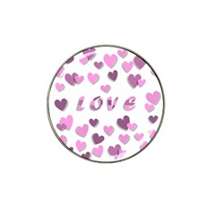 Love Valentine S Day 3d Fabric Hat Clip Ball Marker (4 pack)