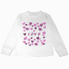 Love Valentine S Day 3d Fabric Kids Long Sleeve T-Shirts