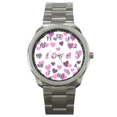 Love Valentine S Day 3d Fabric Sport Metal Watch