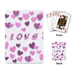 Love Valentine S Day 3d Fabric Playing Card