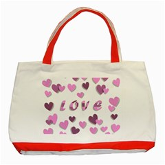 Love Valentine S Day 3d Fabric Classic Tote Bag (Red)