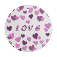 Love Valentine S Day 3d Fabric Round Ornament (Two Sides)