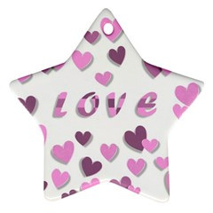 Love Valentine S Day 3d Fabric Star Ornament (Two Sides)