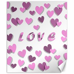 Love Valentine S Day 3d Fabric Canvas 8  x 10