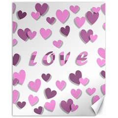 Love Valentine S Day 3d Fabric Canvas 16  x 20