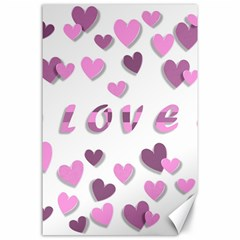Love Valentine S Day 3d Fabric Canvas 24  x 36