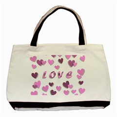 Love Valentine S Day 3d Fabric Basic Tote Bag (Two Sides)