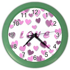 Love Valentine S Day 3d Fabric Color Wall Clocks