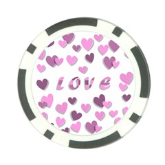 Love Valentine S Day 3d Fabric Poker Chip Card Guard