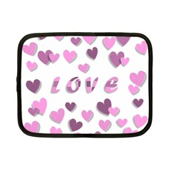 Love Valentine S Day 3d Fabric Netbook Case (Small)