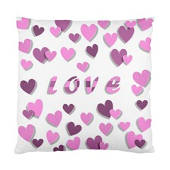Love Valentine S Day 3d Fabric Standard Cushion Case (One Side)