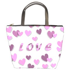 Love Valentine S Day 3d Fabric Bucket Bags
