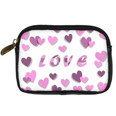 Love Valentine S Day 3d Fabric Digital Camera Cases