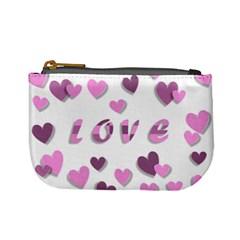 Love Valentine S Day 3d Fabric Mini Coin Purses