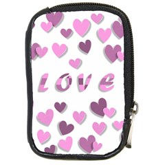 Love Valentine S Day 3d Fabric Compact Camera Cases