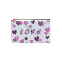 Love Valentine S Day 3d Fabric Cosmetic Bag (Small)