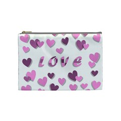 Love Valentine S Day 3d Fabric Cosmetic Bag (Medium)