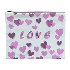 Love Valentine S Day 3d Fabric Cosmetic Bag (XL)