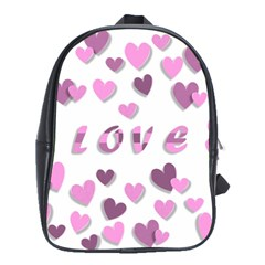 Love Valentine S Day 3d Fabric School Bags(large)