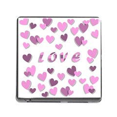 Love Valentine S Day 3d Fabric Memory Card Reader (Square)