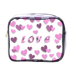 Love Valentine S Day 3d Fabric Mini Toiletries Bags