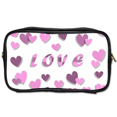 Love Valentine S Day 3d Fabric Toiletries Bags 2-Side