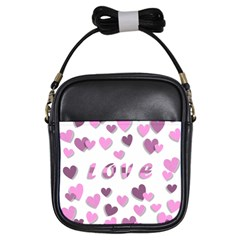 Love Valentine S Day 3d Fabric Girls Sling Bags