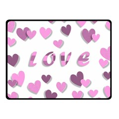 Love Valentine S Day 3d Fabric Fleece Blanket (Small)