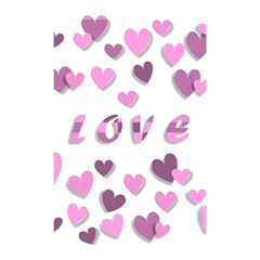Love Valentine S Day 3d Fabric Shower Curtain 48  x 72  (Small)