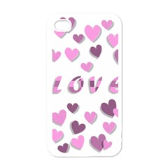 Love Valentine S Day 3d Fabric Apple iPhone 4 Case (White)