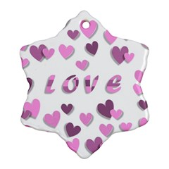 Love Valentine S Day 3d Fabric Ornament (Snowflake)