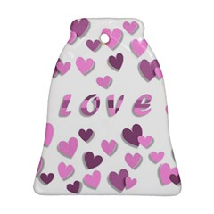 Love Valentine S Day 3d Fabric Ornament (Bell)