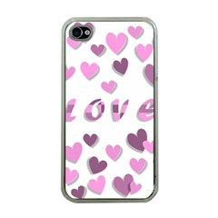 Love Valentine S Day 3d Fabric Apple iPhone 4 Case (Clear)