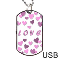 Love Valentine S Day 3d Fabric Dog Tag USB Flash (Two Sides)