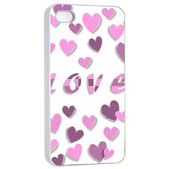 Love Valentine S Day 3d Fabric Apple iPhone 4/4s Seamless Case (White)