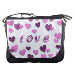 Love Valentine S Day 3d Fabric Messenger Bags
