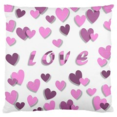 Love Valentine S Day 3d Fabric Large Cushion Case (Two Sides)