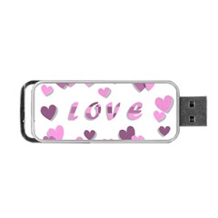 Love Valentine S Day 3d Fabric Portable USB Flash (One Side)