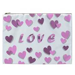 Love Valentine S Day 3d Fabric Cosmetic Bag (XXL)