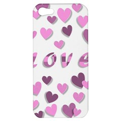 Love Valentine S Day 3d Fabric Apple iPhone 5 Hardshell Case