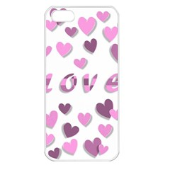Love Valentine S Day 3d Fabric Apple iPhone 5 Seamless Case (White)
