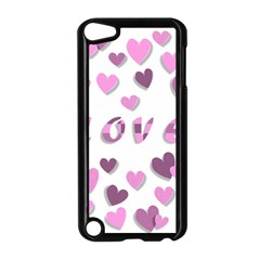 Love Valentine S Day 3d Fabric Apple iPod Touch 5 Case (Black)