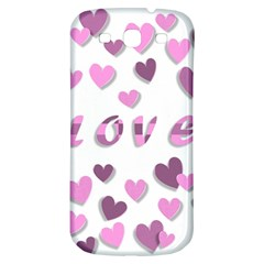 Love Valentine S Day 3d Fabric Samsung Galaxy S3 S III Classic Hardshell Back Case