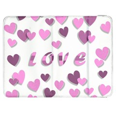 Love Valentine S Day 3d Fabric Samsung Galaxy Tab 7  P1000 Flip Case