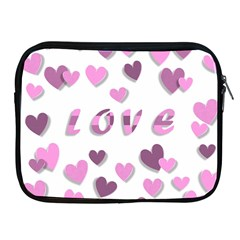 Love Valentine S Day 3d Fabric Apple iPad 2/3/4 Zipper Cases
