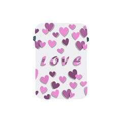 Love Valentine S Day 3d Fabric Apple Ipad Mini Protective Soft Cases