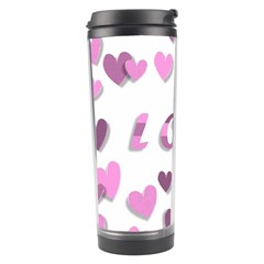 Love Valentine S Day 3d Fabric Travel Tumbler