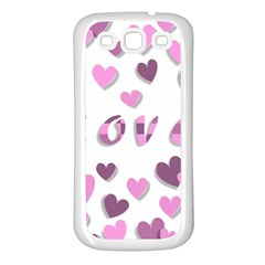 Love Valentine S Day 3d Fabric Samsung Galaxy S3 Back Case (White)